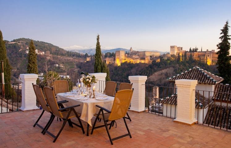 Alhambra Views from Carmen de Los Moriscos