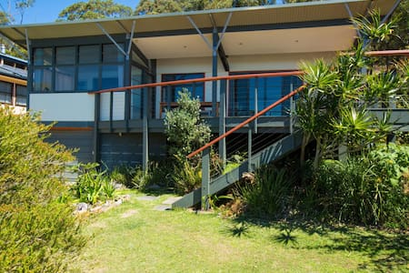 Hyam on holiday!  Hyams Beach home with a view