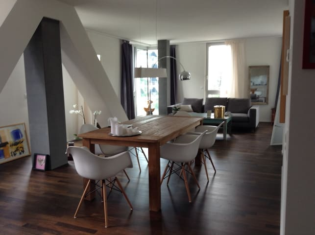 Modern loft close to Zürich airport and city