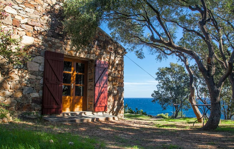 Old stone house - Tarco - Panoramic view over sea - Conca - Hus