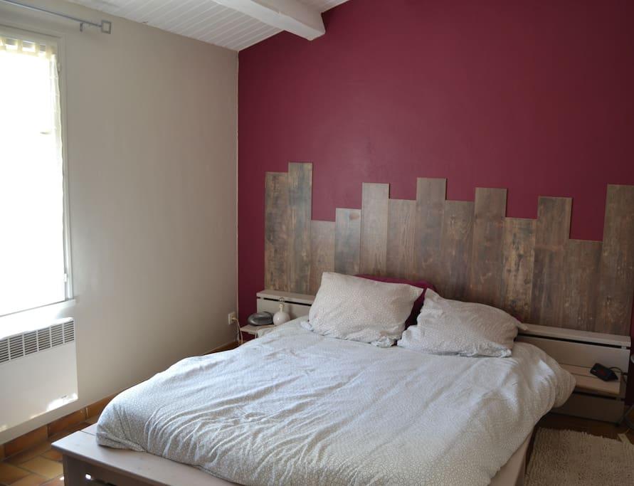 Chambre lit double et lit simple