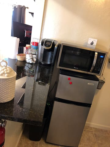 Micro only  Fridge only  No kitchen at all