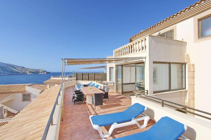 Meerblick-Apartment mit Gemeinschaftspool (7002) - Cala Agulla