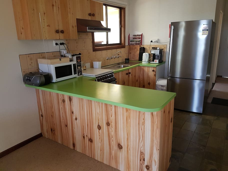 The kitchen is very well appointed with modern appliances to make your stay most enjoyable.