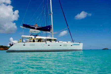 Sail LIAHONA, a Lagoon 500 Catamaran incl Captain