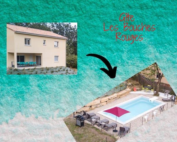 Gite NEUF avec piscine 4/6 personnes