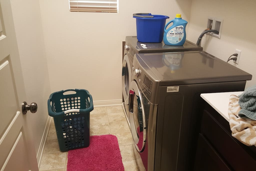 This is the separate laundry room with washer and dryer.