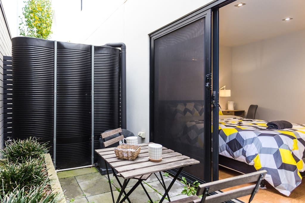 Private Mini Courtyard Outside Bedroom