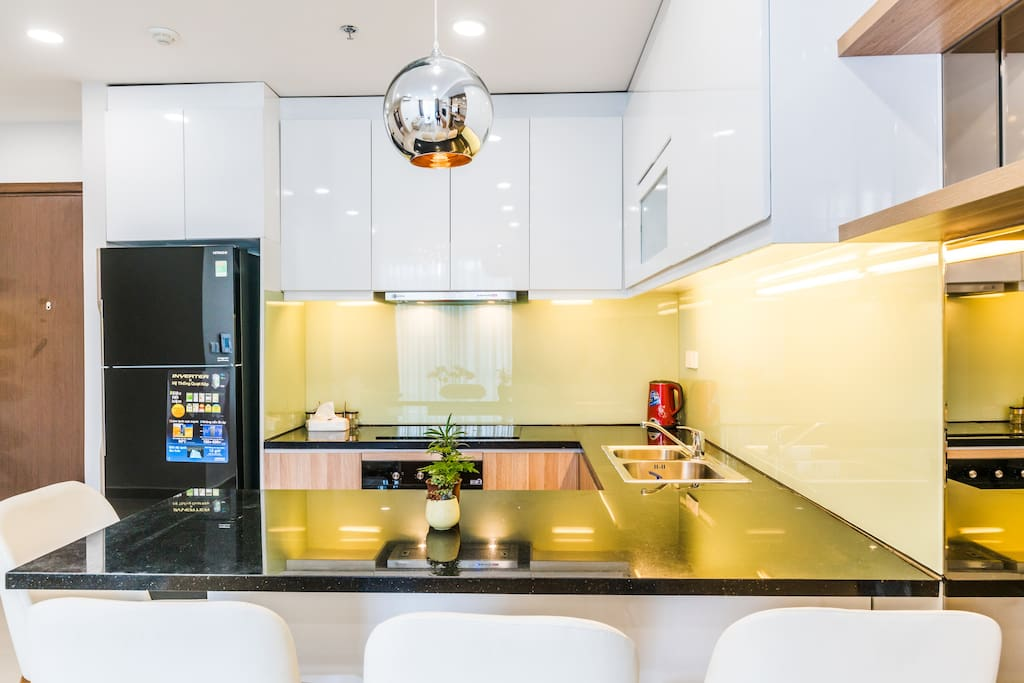 Super clean kitchen with provided ingredients