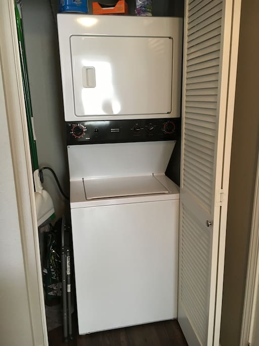 In house washer-dryer
