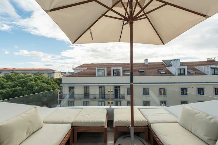 L'appartement de Lisbonne avec terrasse.