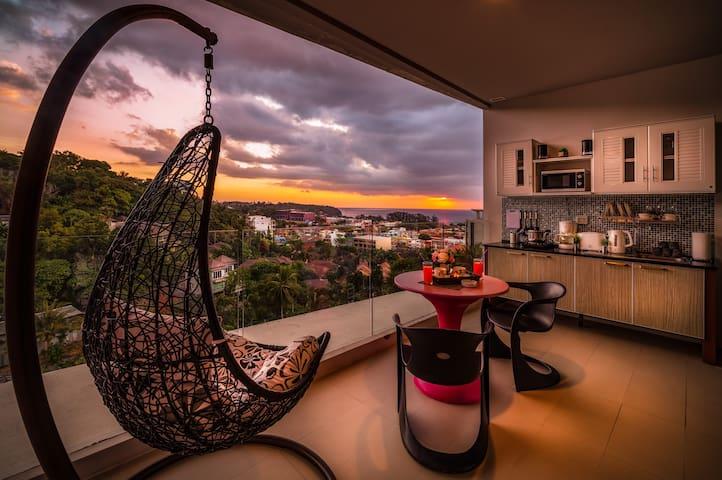 Seaview spacious Apartment 60sqm@Karon beach -800m