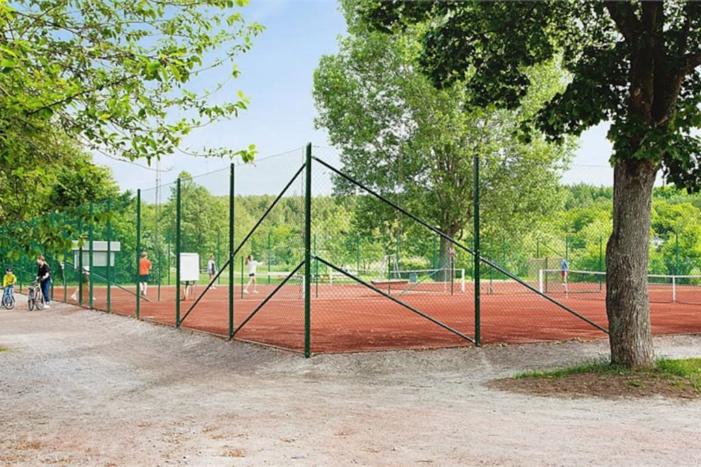 Bookable tennis court. Please let me know if you want to play and I'll arrange times for you.
