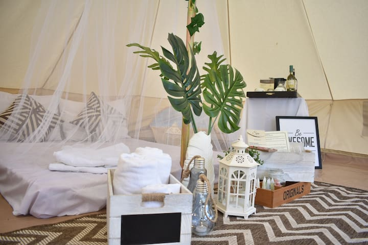 Glamping Tents overlooking Taal Lake