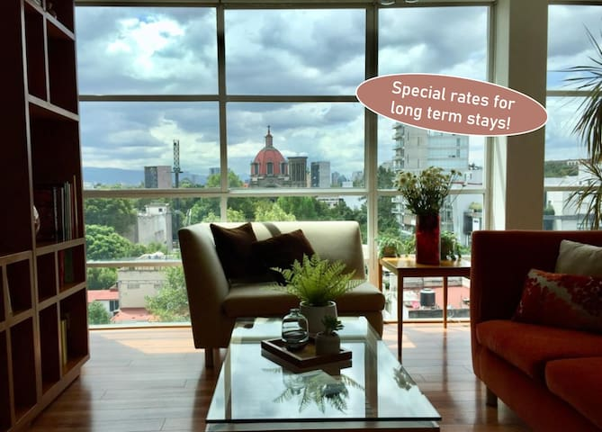 Penthouse at Condesa, sunny, great views & HSWiFi