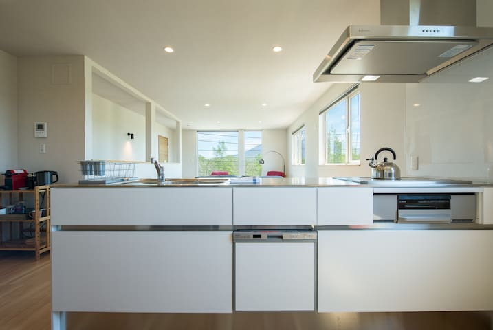 Fully-equipped and modern kitchen