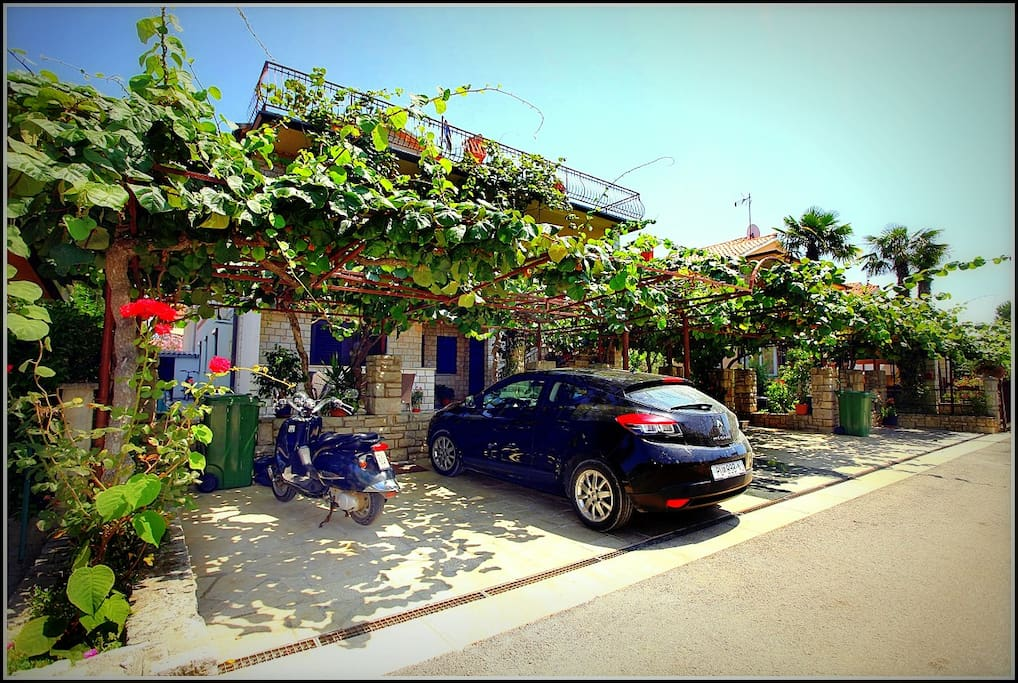 Beautiful private parking lot on premises