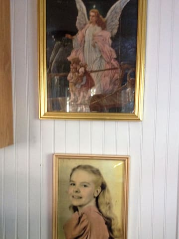 Beulah Jane, at a young age, and her favorite Angel picture.