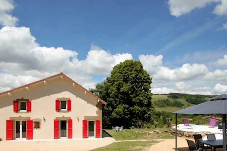 """Gîte """"Les Rivoires"""" avec Spa 160m² - Saint-Clair-sur-Galaure"""