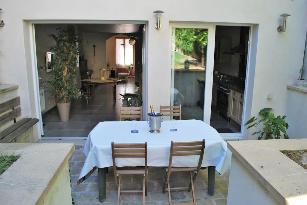 Belle maison et jardin au calme maisons de ville louer - Maison jardin in altamonte springs reims ...