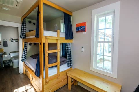 Private Bunk Room with Private Bathroom