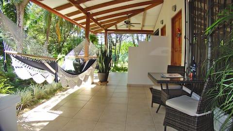 Garden view Room at boutique B&B, Matapalo Beach