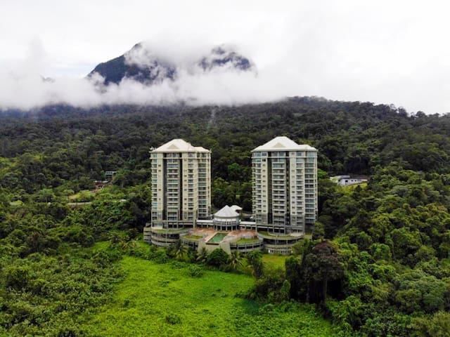 5 Star Suite Surrounded by Nature. With the Legendary Mount Santubong behind and the Vast South China Sea Front View