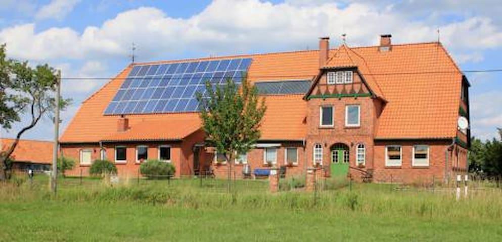 Moderne Wohnung in 150-jähr. Bauernhaus/Elbe, 1.OG