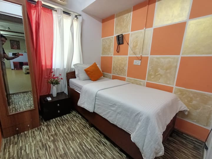 Single AC private BNB room at best rate, stay safe