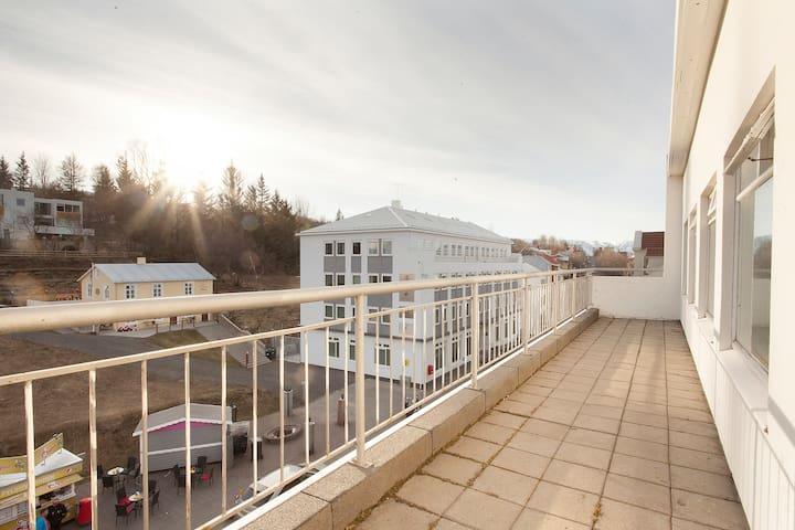 Penthouse apartment in downtown Akureyri