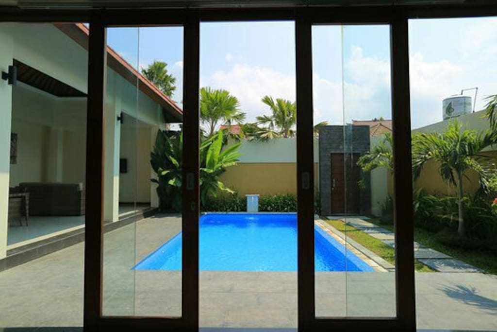 private pool view from guests room