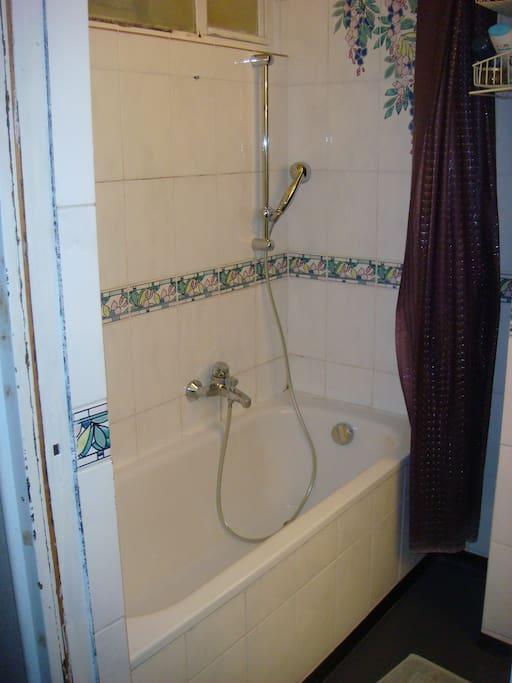 Badewanne als Dusche