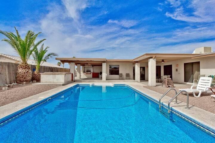 Spacious Home >1 mile to Marina with Heated Pool