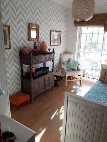 Chambre Azur, single avec un balcon privé