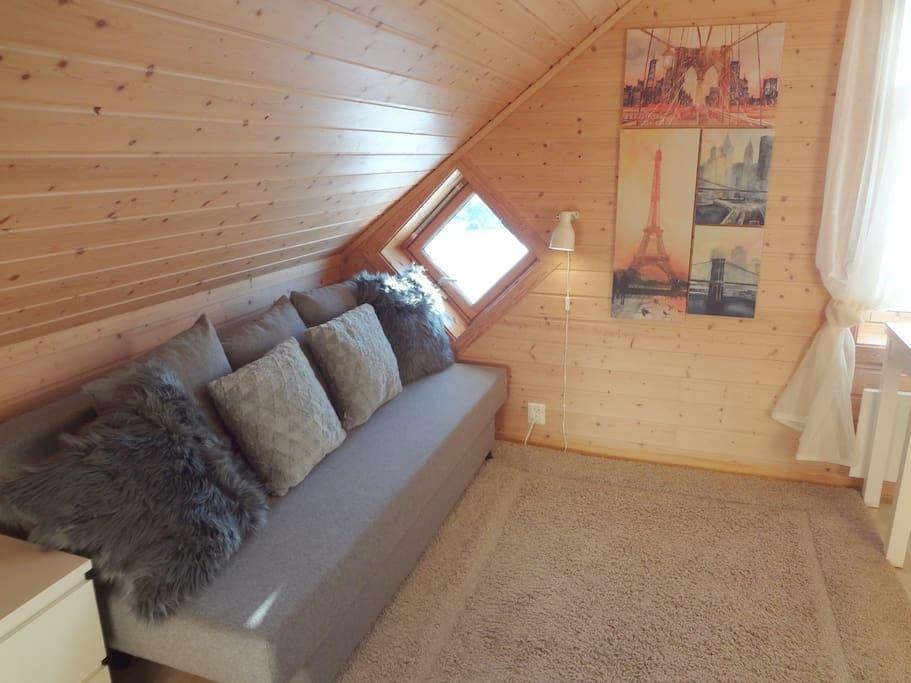 Sovesofa i rom #2  |  Sleeping-sofa in room #2