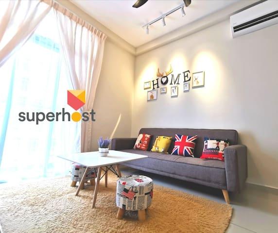 Family apart.Cozy homestay温馨の居 Nusajaya♥FREE:WIFI♥