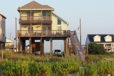 Beautiful custom home ON beach! - Freeport - Casa