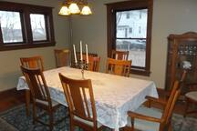 View of dining room.