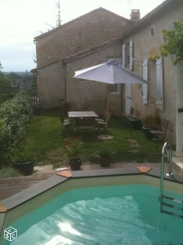 House 200 M2 with swimming pool 8 p - Ligardes - Huis