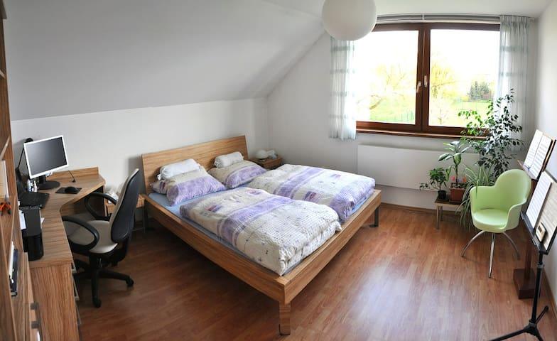 Pokoj  v domě s terasou a zahradou - Vřesina - Hus