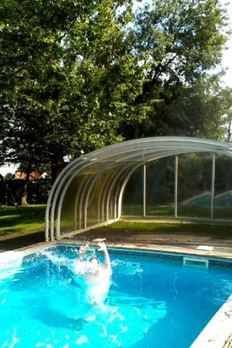 L'été, piscine découverte