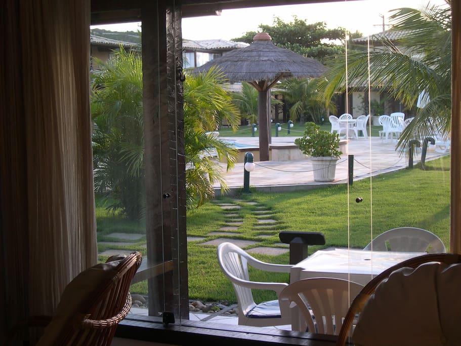 Vista da janela da casa