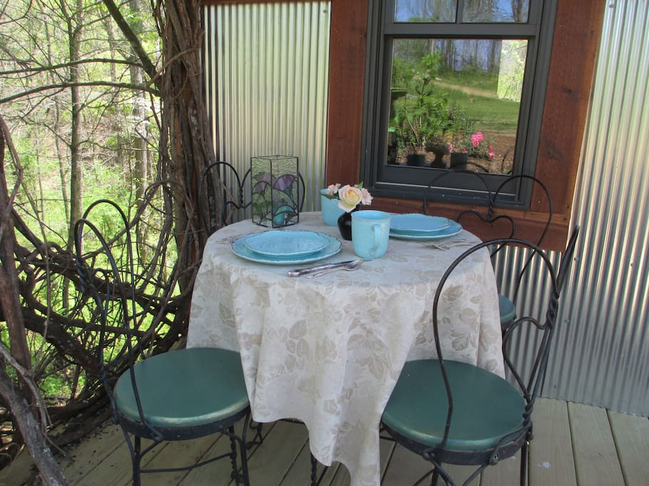 Enjoy your morning breakfast in bed -or on the front porch