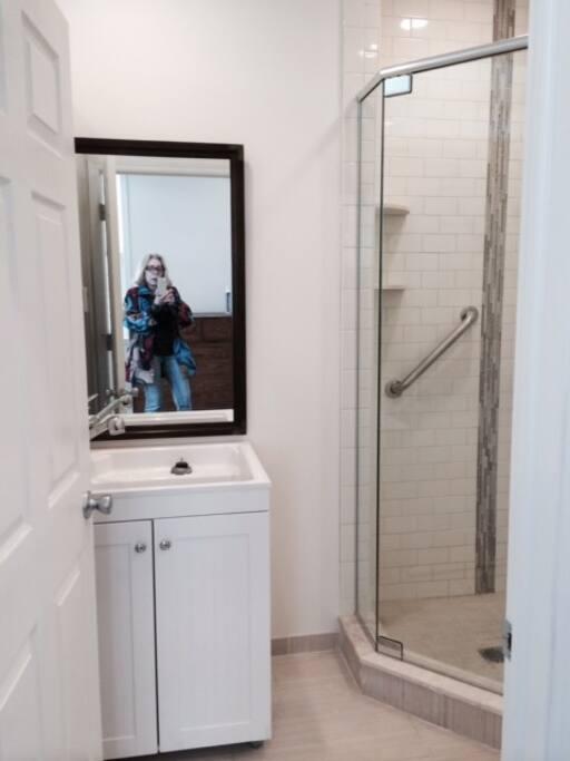 Vanity in the bathroom