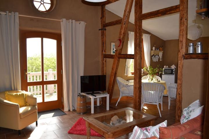 Cosy two-room apartment on a farm
