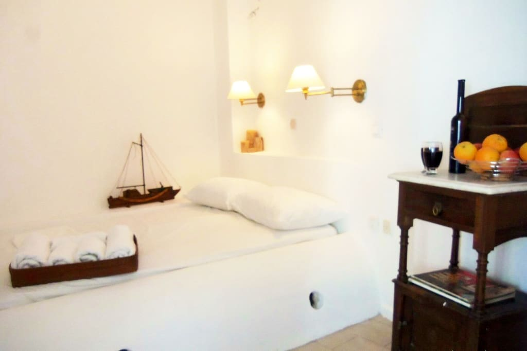 Your room with double bed. We will change some stuff to the decoration the following days.