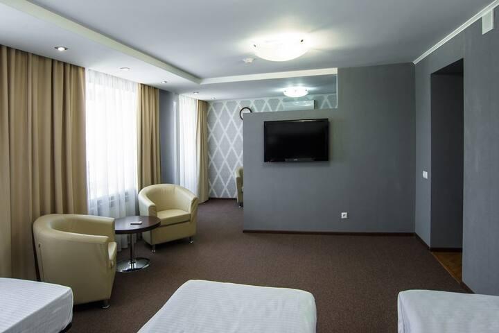 Комната в гостинице для троих