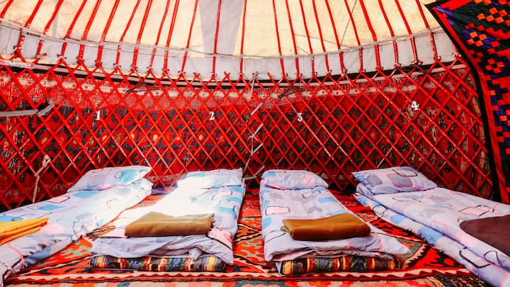 Authentic Kyrgyz yurt
