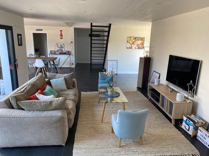 Loctudy: Maison spacieuse à 150m de la plage