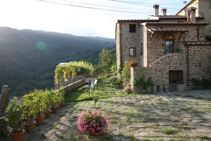 ULIVETO on hills: the old stones house - Saturnana - Apartment